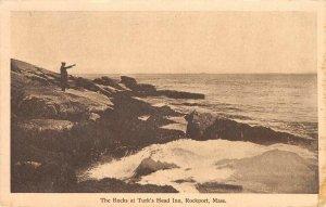 The Rocks at Turk's Head Inn, Rockport, Massachusetts 1915 Vintage Postcard
