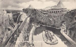Mountain Railway at the Latin British Exhibition 1912 Antique London Postcard