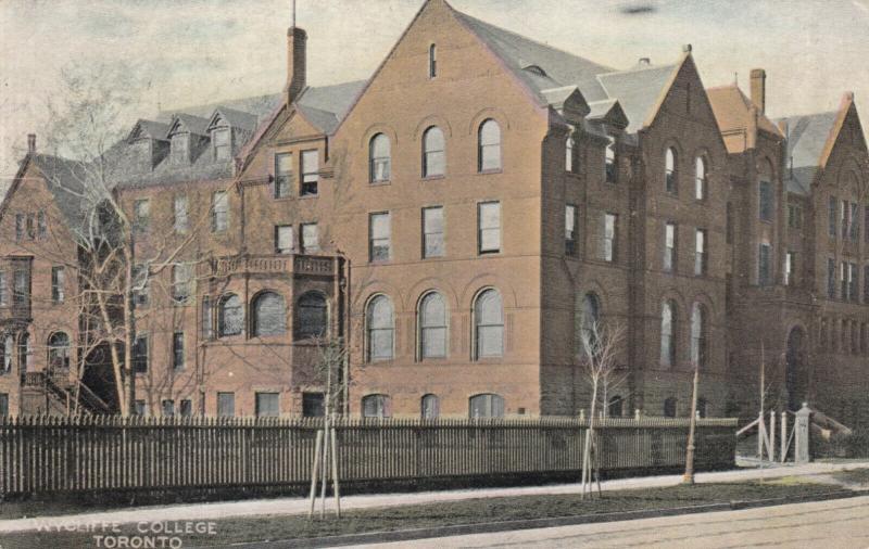 TORONTO , Ontario , 1909 ; Wycliffe College