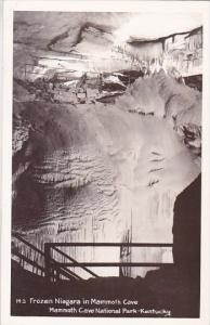 Real Photo Frozen Niagara In Mammoth Cave Mammoth Cave National Park Kentucky