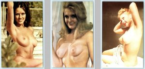 3 Risque Postcard CLASSIC PIN UPS Vintage Sexy Nudes #256,#260,#272