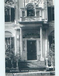 1950's rppc SORTWELL HOUSE DOORWAY Wiscasset Maine ME HM3969