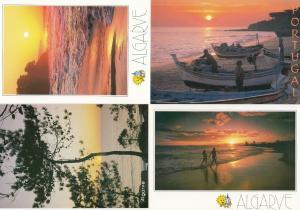 Algarve Golden Sunset 4x Portugal Postcard s