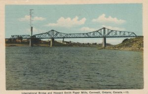 CORNWALL , Ontario , 1939; International Bridge & Howard Smith Paper Mills