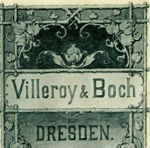1893 World's Fair Villeroy & Boch Dresden Brochure Card German Tale 7J