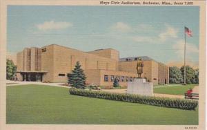 Minnesota Rochester Mayo Civic Auditorium Curteich