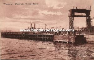 italy, MESSINA, Sicily, Approdo Ferry-Boats (1910s)