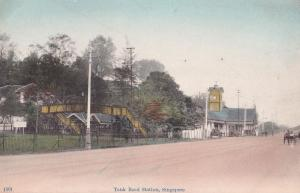 Tank Road Station Singapore Old Postcard