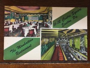 The Manhattan Restaurant, 11-12 Centre Square, Easton, Pennsylvania PA D16