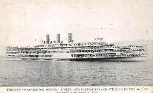 Washington Irving Ferry & Paddle Boats Ship 1913