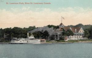 ST LAWRENCE PARK , Ontario , Canada , 1911 ; Steamer , St Lawrence River