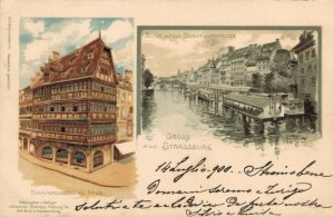 Germany Gruss auf den Schiffleutstaden Litho 03.41