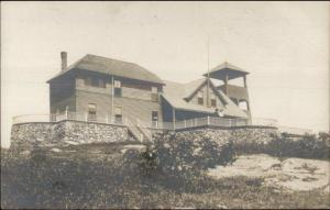 Camden ME Mt. Battie House c1910 Real Photo Postcard