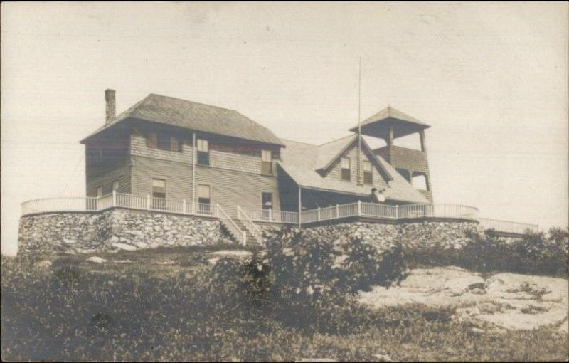 Camden ME Mt. Battie House c1910 Real Photo Postcard