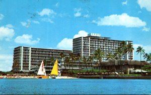 Hawaii Waikiki Beach The Reef Hotel 1968