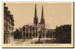 Postcard Old Bordeaux Cathedral Place Pierre Laffitte