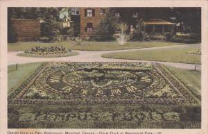 Floral Clock, Westmount Park, MONTREAL, Quebec, Canada, 30-40's