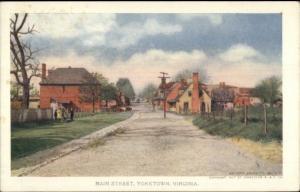 Yorktown VA Main St. 1907 Jamestown Expo #44 EXC COND Postcard