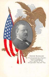 Grover Cleveland 22nd President Antique Postcard J65454