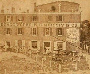 1870's Real Photo Girard Brass Works W.E Murphy & Co. Fab! P166