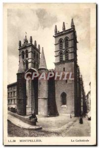 Old Postcard Montpellier La Cathedrale