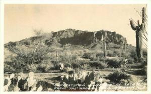 Apache Trail Arizona Frasher Superstition RPPC Photo Postcard 3380