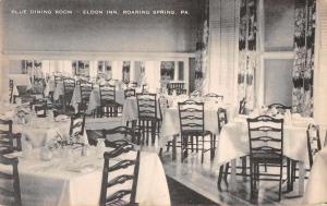 Roaring Spring Pennslyvania Eldon Inn Blue Dining Room Vintage Postcard J54919