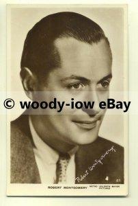 b1964 - Film Actor - Robert Montgomery - postcard
