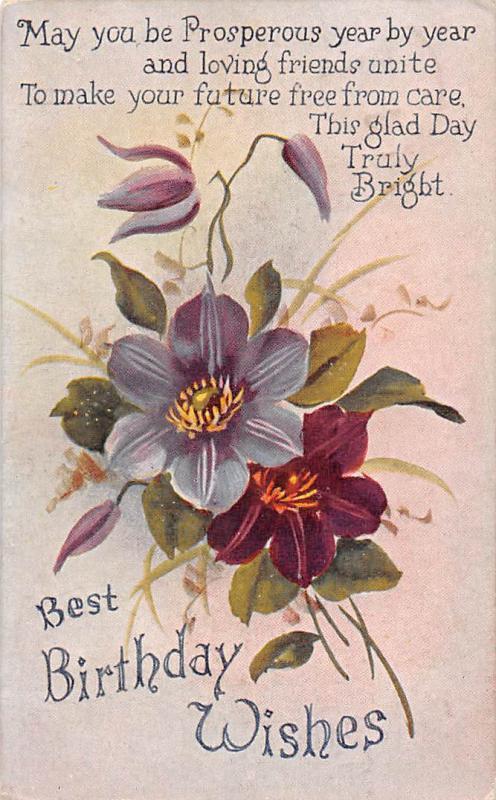 Best Birthday Wishes Flower Bouquet Fantasy Prosperous Year By