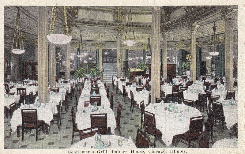 CHICAGO, Illinois, 1900-1910s; Gentlemen's Grill, Palmer House