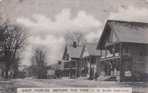 WEST FAIRLEE, Vermont, 1900s; West Fairlee Before The Fire