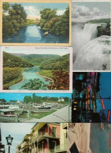 USA - Georgia, West Virginia and more Postcard Lot of 30 with RPPC 01.02
