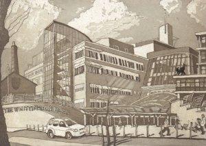 The Wellington Hospital Highgate London Rare Hand Printed Postcard
