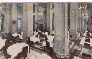 ATLANTA , Georgia , 1916 ; Italian Cafe , Hotel Ansley