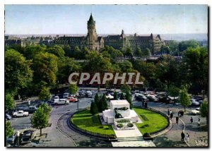 Modern Postcard The Luxembourg Constitution Square with the Monument of Remem...