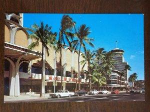 1951 Woolworths, Kalakaua Avenue, Waikiki, Honolulu, Hawaii postcard z19