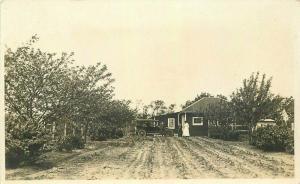 Auto Farm 1920s Rock River Illinois Postcard RPPC real Photo 3478