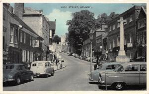 High Street, Arundel, England, Early Postcard, Used in 1961