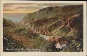 channel islands, GUERNSEY, Petit Bot from Cliffs (1910s)