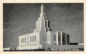 H83/ Idaho Falls Postcard c1940s L.D.S. Temple Building  50
