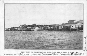 Left Part of Caimanera Cuba As Seen From The Wharf Postcard