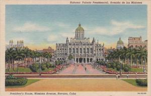 Cuba Havana President's House Mission Avenue Curteich