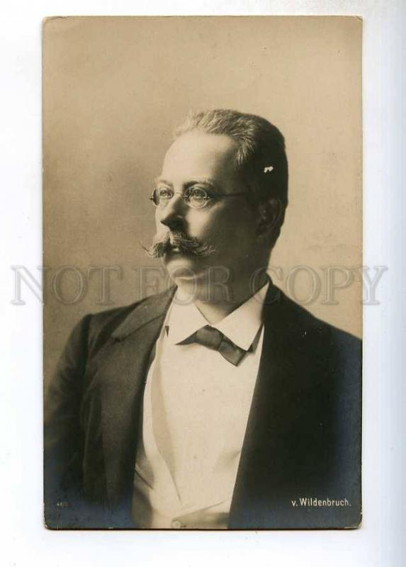 243883 WILDENBRUCH German POET dramatist Vintage PHOTO PC
