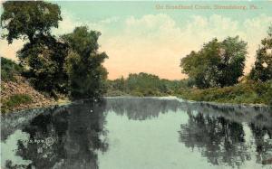 Stroudsburg Pennsylvania~On Broadhead Creek~1910 Postcard