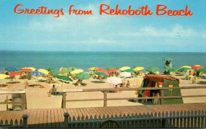 Delaware Rehoboth Beach Greetings With Beach Scene