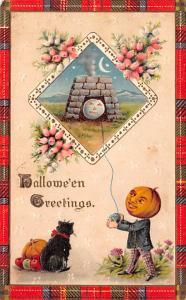Halloween Post Card Old Vintage Antique Gottshalk 1912