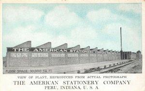 LP82 Peru Indiana Postcard American Stationary Company