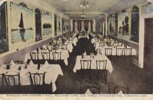 Interior View, Banquet & Assembly Hall, Williams Cafe, Yonge Street, Toronto,...