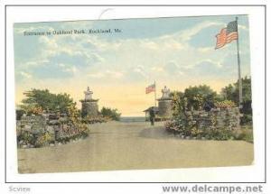 Entrance To Oakland Park, Rockland, Maine, 00-10s