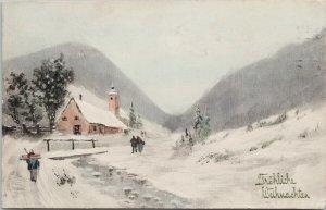 Winter Rural Scene Hamburg Germany Cancel VK Vienne 5223 Postcard G82